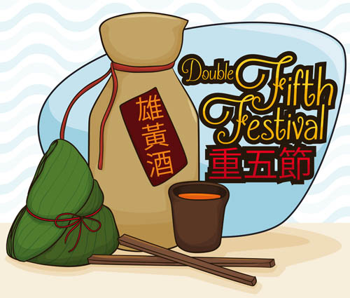 Dragon Boat Festival wished to Vector EPS