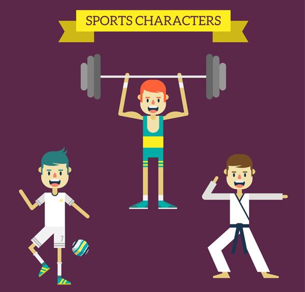 Dynamic sports figures Vector AI