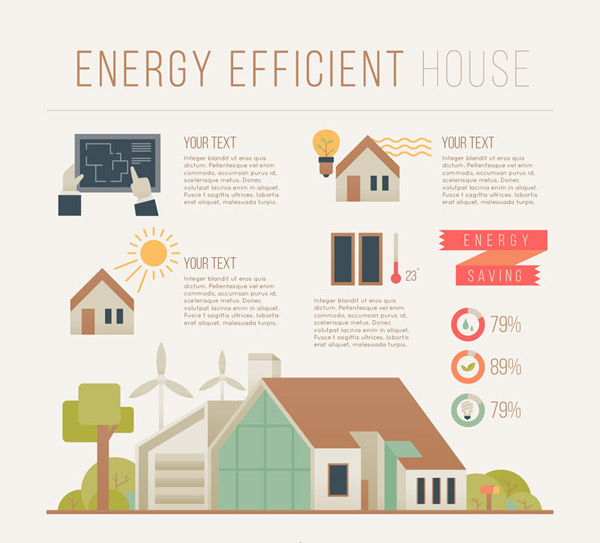 Energy-saving housing information Vector AI