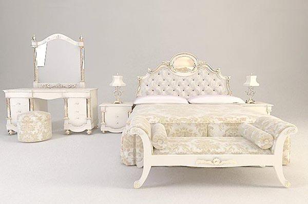 European-Style Bedroom Furniture 3D Model