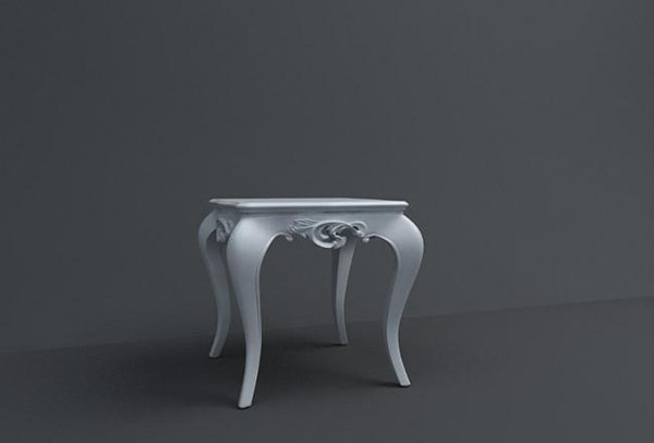 European-Style Coffee Table Template 3D Model