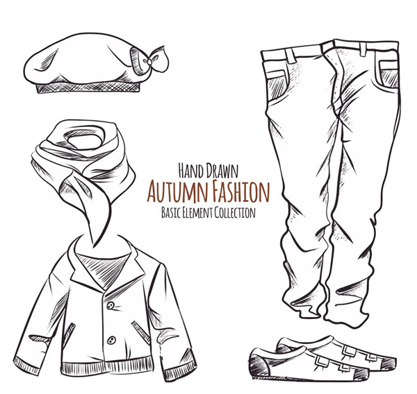 Fashion autumn apparel Vector AI