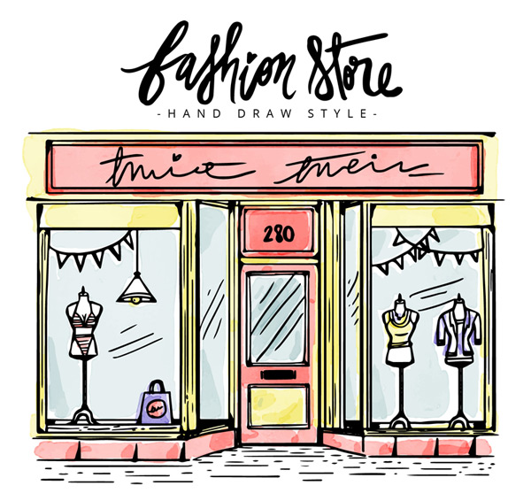 Fashion boutique shop Vector AI