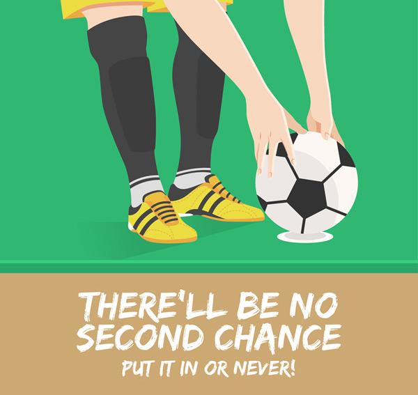 Feet and football illustrations Vector AI