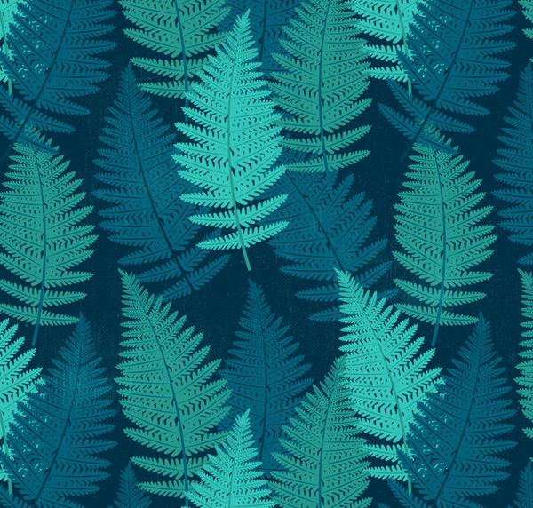 Fern leaf seamless background vector