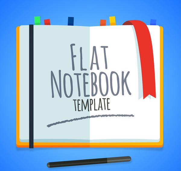 Flat blank Notepad Vector AI