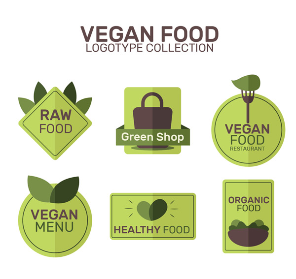 Flat vegetarian symbol Vector AI