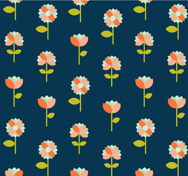 Floral seamless background Vector AI 02
