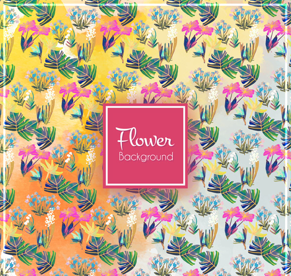 Flower and leaf background Vector AI