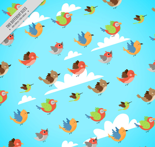 Flying bird seamless background Vector AI
