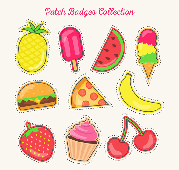 Food patch badge Vector AI