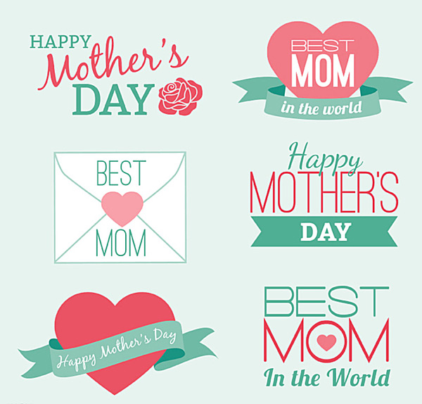 Fresh elements of mother's day Vector AI