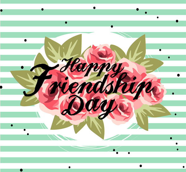 Friendship Day cards Vector AI