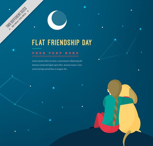 Friendship Day Vector AI