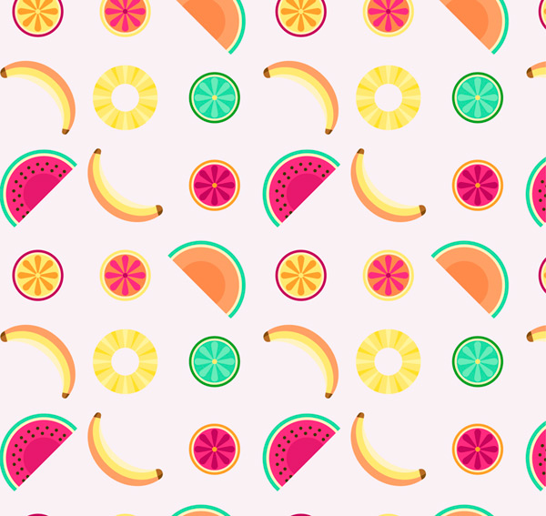 Fruit seamless background Vector AI 01