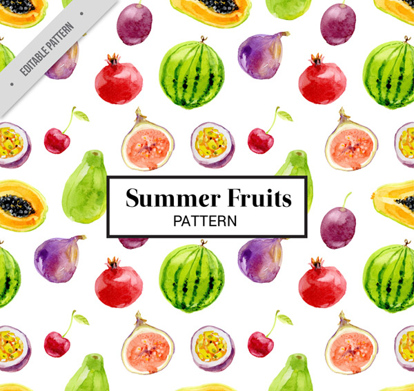 Fruit seamless background Vector AI