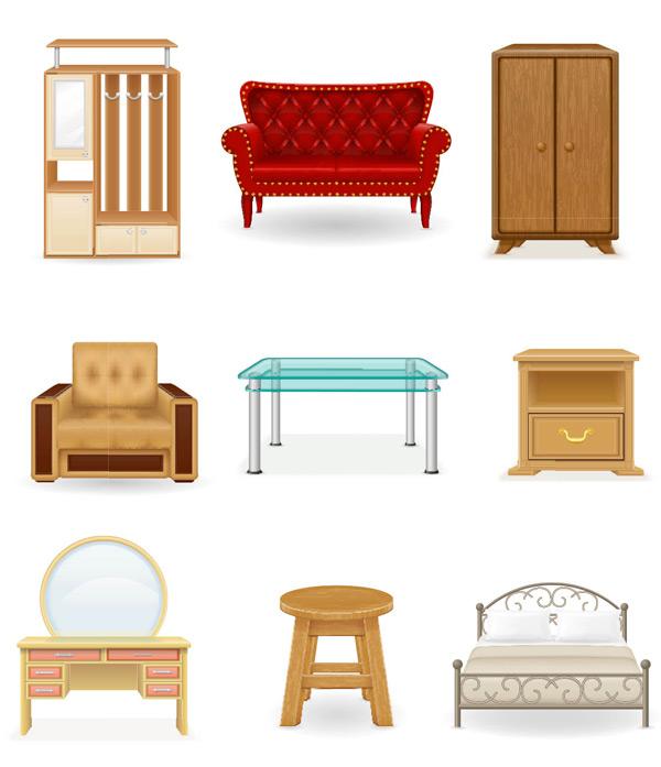 Furniture cabinets furniture Vector AI