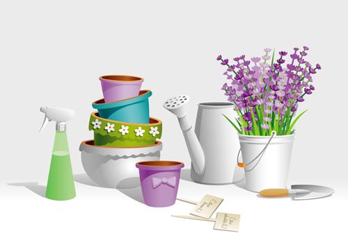Gardening gadgets Vector EPS