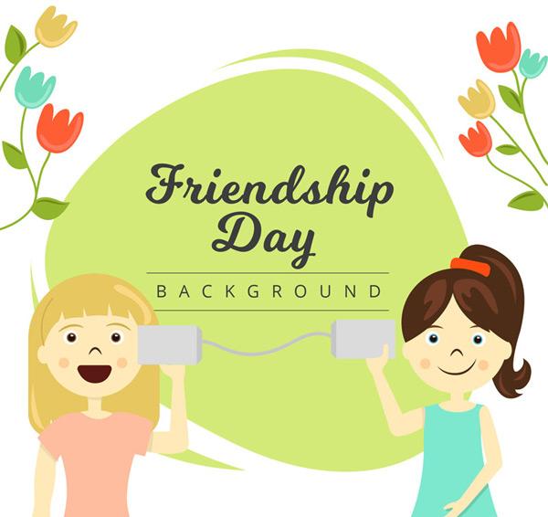 Girl Friendship Day vector