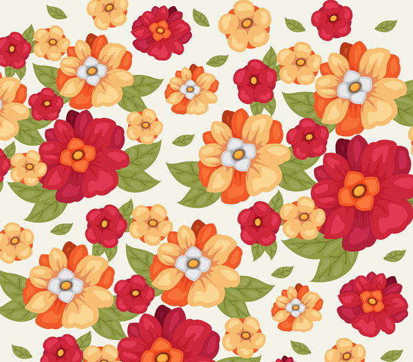 Gorgeous floral seamless background Vector AI