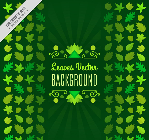 Green leaf background Vector AI