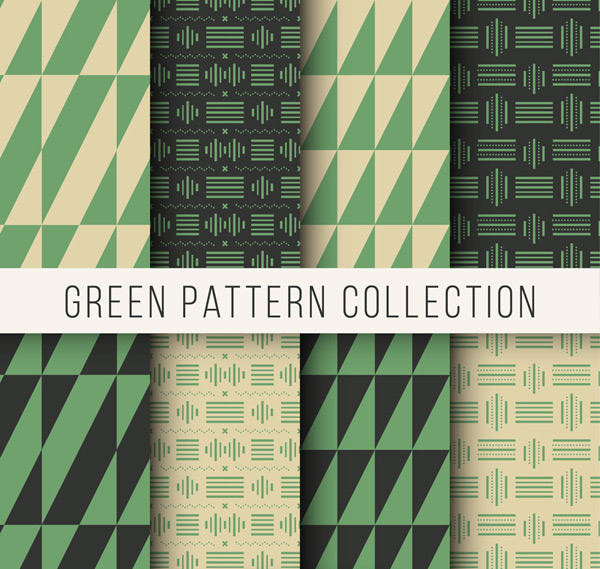 Green patterned background Vector AI