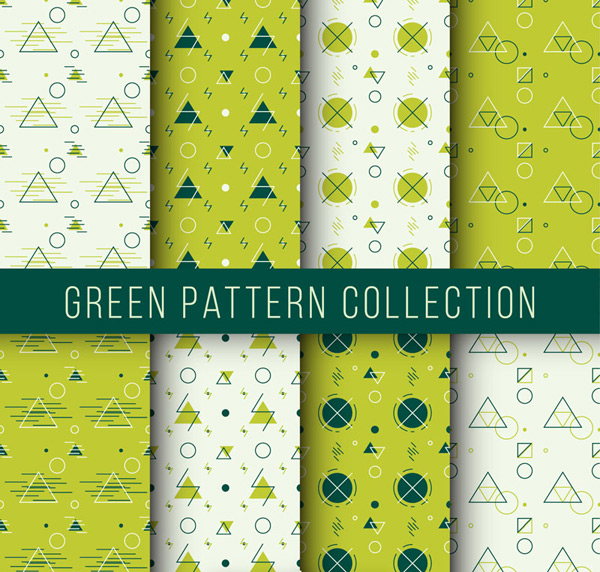 Green patterned, seamless background Vector AI