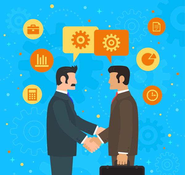 Handshake business man Vector AI