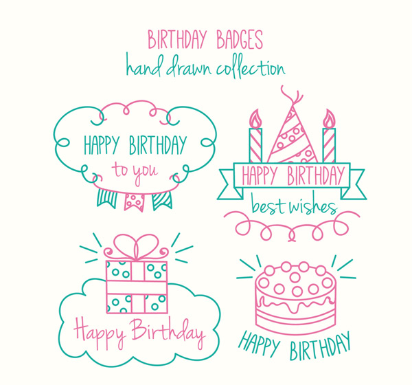Happy birthday badge Vector AI 01