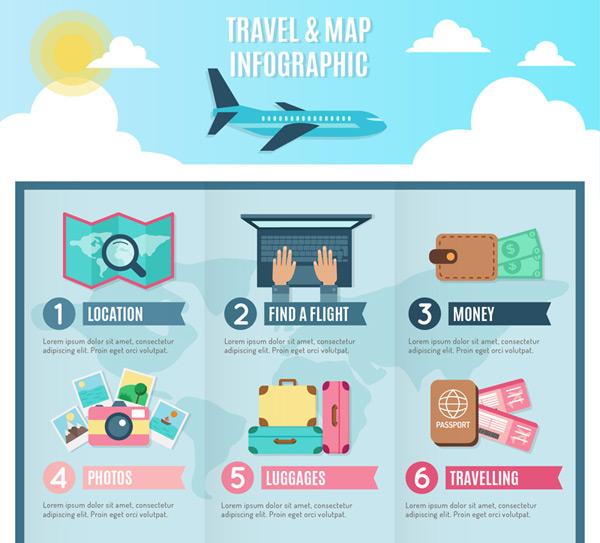 Holiday travel information Vector AI 01