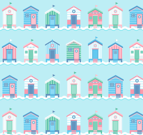 Housing seamless background Vector AI