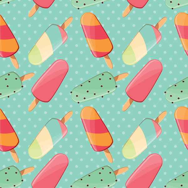Ice cream seamless background Vector EPS