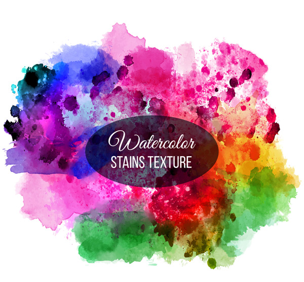 Ink watercolor backgrounds Vector AI