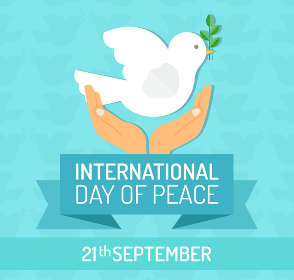 International peace day greeting cards vector