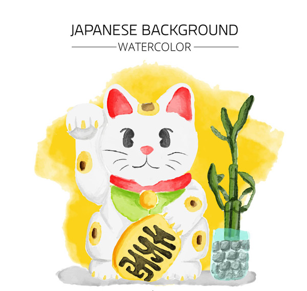 Japanese lucky cat vector