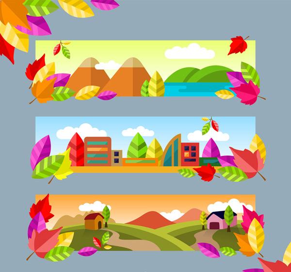 Landscape banner Vector AI