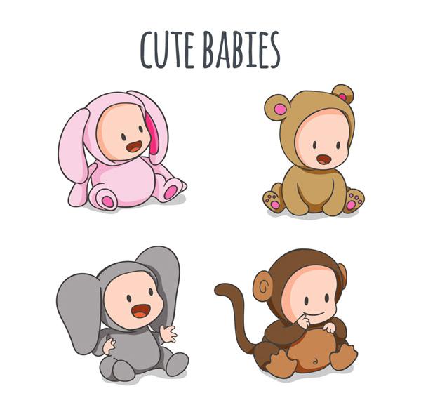 Love baby animals Vector AI