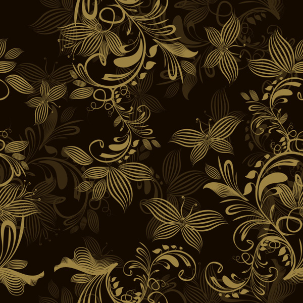 Love Golden Butterfly pattern background Vector EPS