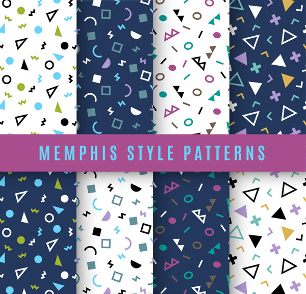 Memphis-style pattern Vector AI