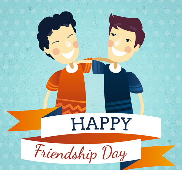 Men's Friendship Day greeting cards Vector AI