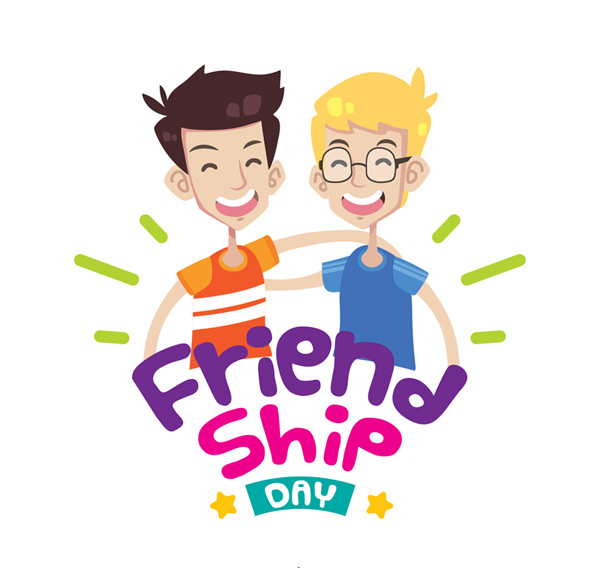 Men's friendship day vector