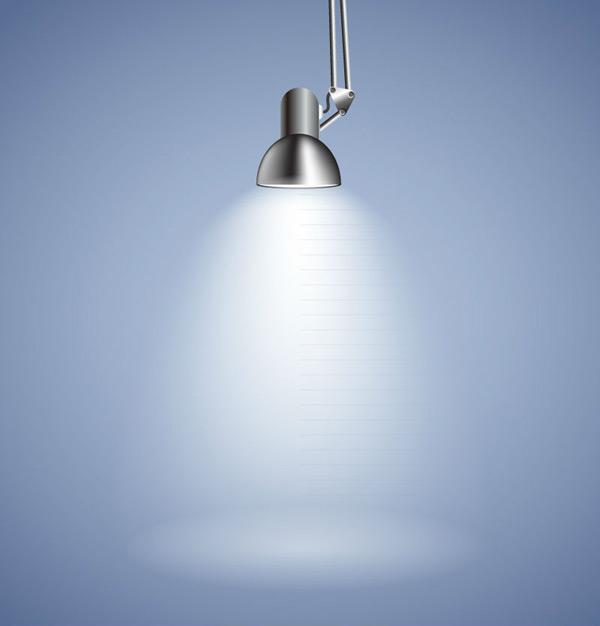 Metal lamp lit Vector EPS