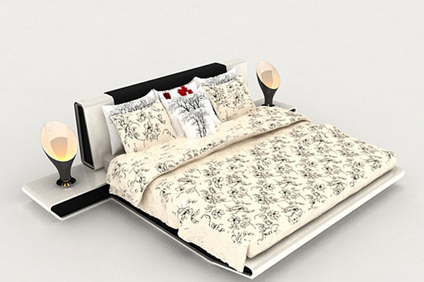 Modern Bed 3D Model