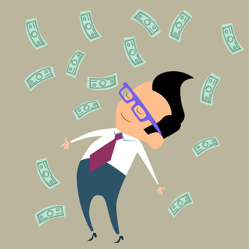 Money and business people Vector EPS