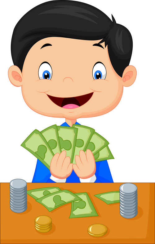 Money man Vector EPS
