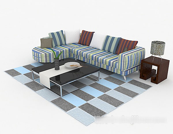 Multi-People Sofa 3D Models 02