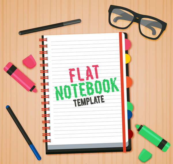 Notepads and stationery Vector AI