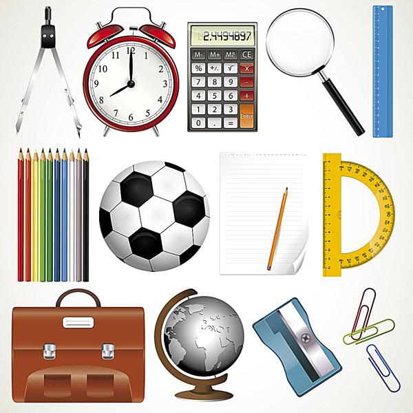 Office school supplies Vector EPS
