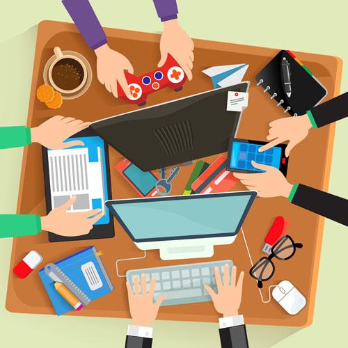 Office supplies Vector EPS
