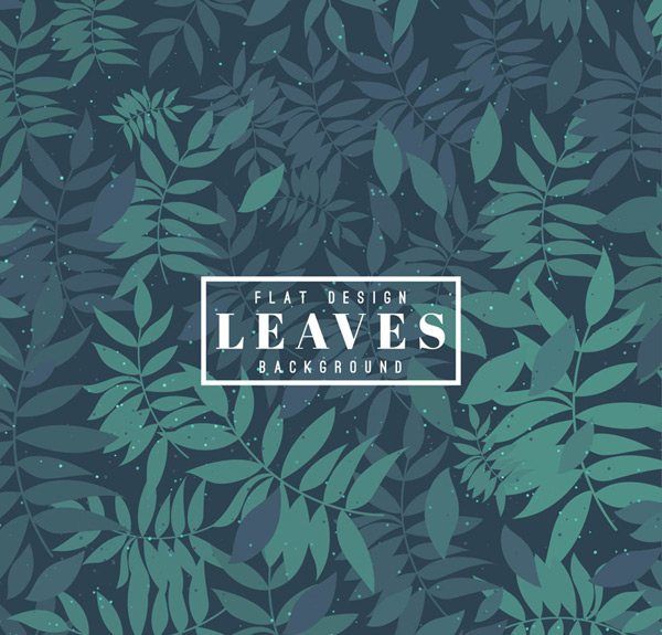 Old leaves background vector